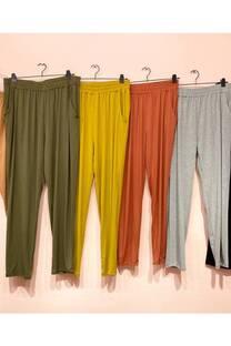 pantalon modal con bolsillo -