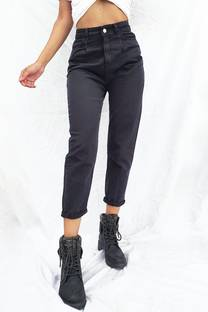 JEAN MOM SLOUCHY BLACK -