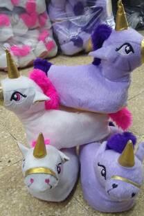 Pantuflas De Nena Unicornio -