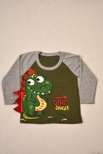 Camiseta manga larga bebé con aplique -