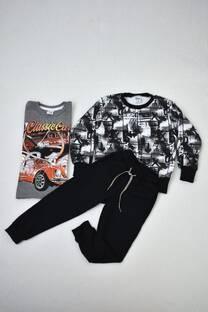 PACK camiseta premiun + buzo de frisa + pantalón babucha de algodón rústico -