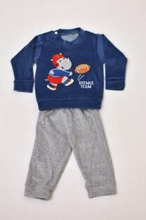 Conjunto de plush bebé buzo +pantalón -