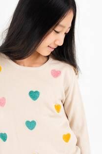 Sweater Corazon sin brillo -