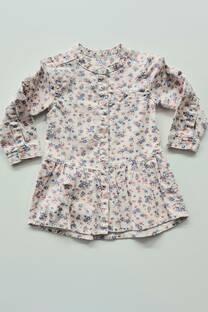 Vestido manga larga floreado beba -