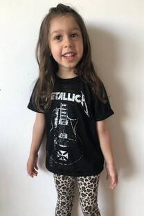 Remera Mini Metallica  -