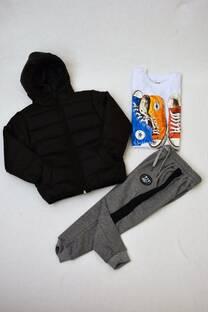Promo pack campera de abrigo +remera manga larga premiun + pantalón babucha  de algodón con friza -