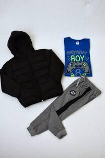 Promo pack campera de abrigo+remera manga larga +pantalón babucha de frisa -
