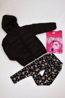 Promo pack campera de abrigo + remeras manga larga línea premiun + calza térmica estampada  -