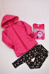 Promo pack camperón de abrigo + remera manga larga línea premiun + calza térmica estampada   -