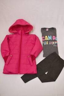 Promo pack camperón de abrigo + remera manga larga premiun +calza térmica lisa -
