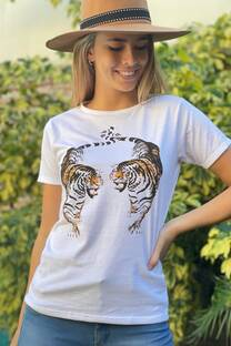 Remera Dos tigres -