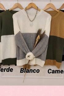 Sweater Tashi Combinaciones Bicolor -