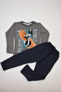 PACK por remera manga larga línea premium +pantalon de algodón con frisa -