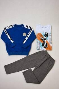 Promo pack por buzo cuello redondo +remera manga larga línea premium+pantalón de frisa  -