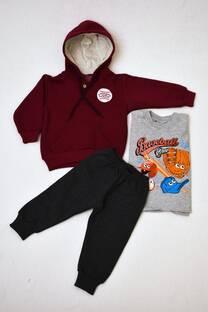 Promo pack buzo de friza con capucha forrada + remera manga larga línea premiun + pantalon babucha bebé -