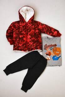 Promo pack campera de abrigo forrada con corderito+ remera manga larga línea premiun+ pantalon babucha bebé  -