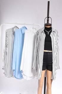 Camisa Larga Rayada -
