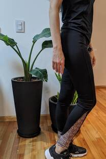 calza leggins en polisuplex combinada