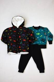 Promo pack campera de abrigo con corderito + conjunto de friza bebé  -