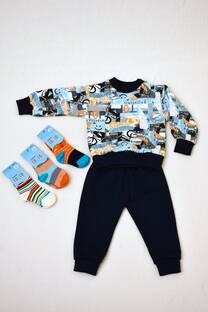 Promo pack conjunto de friza + pack de tres medias línea bebé -