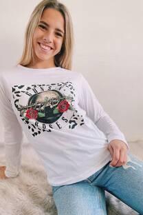 Remera Print Roses