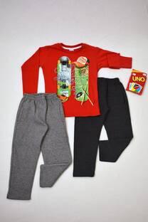 PROMO DIA DEL NIÑO! pack remera manga larga línea premiun+ dos pantalones de friza + Juego de regalo!! -