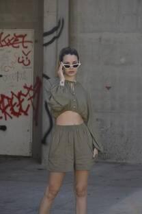 Blusa lino c/boton