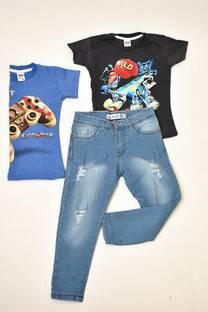 Promo pack jeans+2 remera manga corta línea premium -