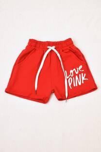 shorts  de algodón rústico niña -