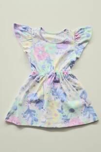Vestido algodón estampado nena -