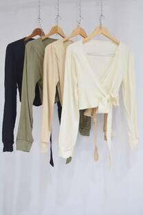 Blusa lino cruzada -