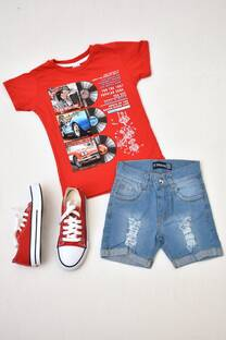 Promo pack remera manga corta línea premiun+bermuda de jeans + par de zapatillas de lona -