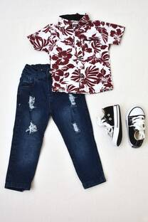 Promo pack jeans bebé+ camisa + par de zapatillas -