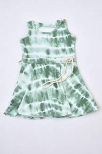 Vestido modal batic niña con lazo -