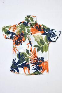 camisa floreada niño  -