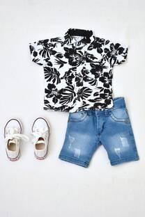 Promo pack camisa bebé+ bermuda de jeans +zapatillas -