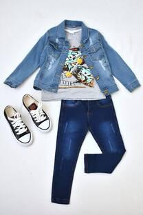 Promo pack zapatillas+jeans + campera de jeans + remera manga corta línea premiun varón -