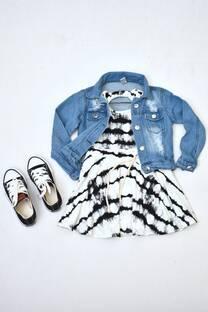 Promo pack zapatillas+vestido de modal + campera de jeans  -