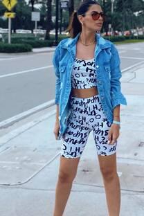 Campera de jean over size -