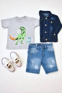 Promo pack remera línea premiun bebé + bermuda de jeans+ campera d jeans  +  zapatillas  -