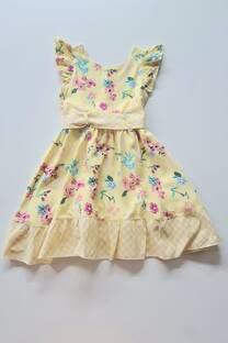 Vestido fibrana forrado combinado Nena -