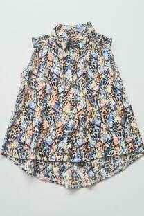 Camisa fibrana floreada nena