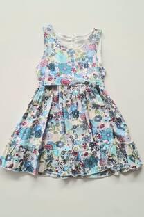 Vestido fibrana floreado beba -