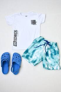 Promo pack remera manga corta línea premium+shorts con suspensor+ Crocs  -