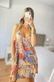 Vestido -Solero- -Fibrana- -