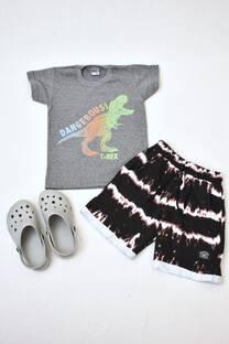 Promopack remera manga corta+ short de algodón rústico+ Crocs -