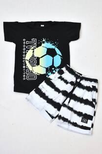 Promo pack remera manga corta+ short de algodón rústico  -
