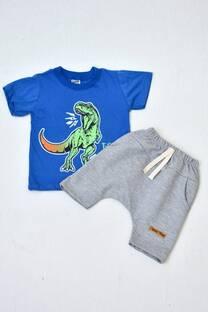 Promo pack remera manga corta línea bebé+ short pañalero de algodón rústico -