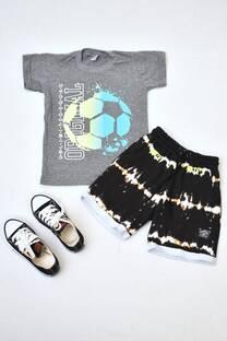 Promo pack remera manga corta+ short de algodón rústico+ zapatillas  -
