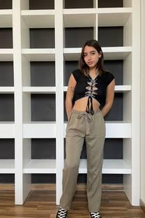 Fibrana Pantalon Liso Babucha -